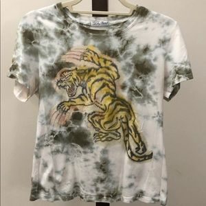 Lucky brand T-shirt tiger with tie-dye